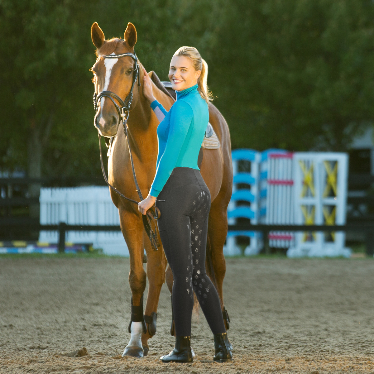 Winter Horse Blankets >> Horze Leah Women's UV Pro Riding Tights | Horze